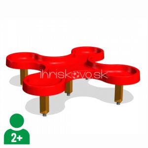 Štvorlístok - stôl na vodu a piesok
