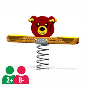 Dvojmiestna pružinová hojdačka Medvedík