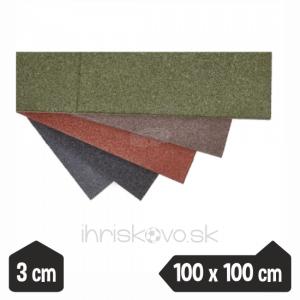 Dopadové dosky – hrúbka 3 cm – 100 x 100 cm