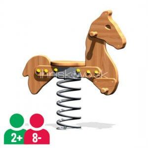 Drevená pružinová hojdačka Koník