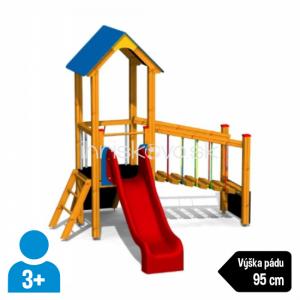 Herná zostava so šmýkačkou a rebríkom