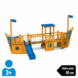Multifunkčná zostava Námorná loď – natieraná