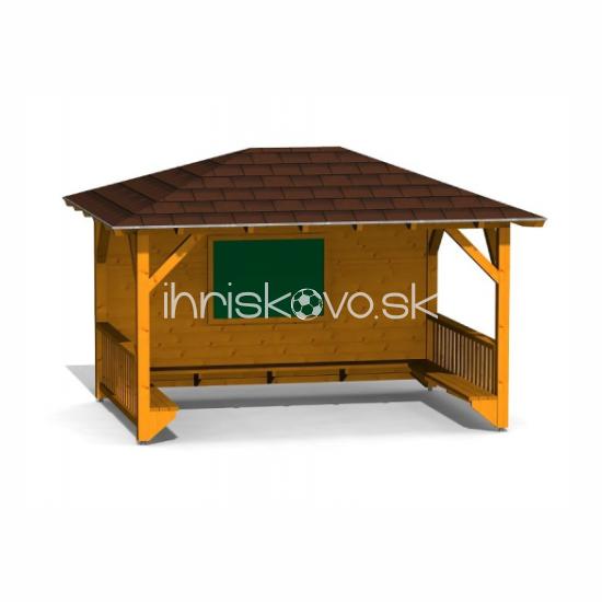 Školský altánok s tabuľou a lavičkami