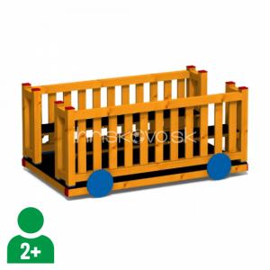 Vagónik drevený