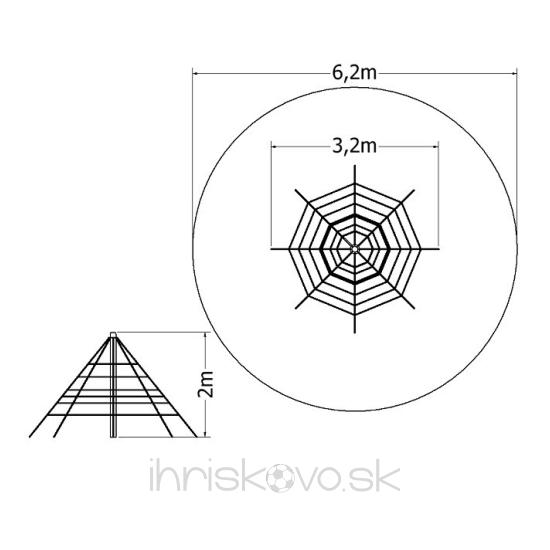 Pyramída – výška 2 m (8 zámkov)